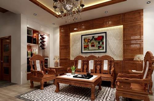 Bố trí bàn ghế gỗ theo phong thủy