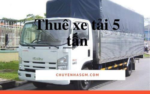 Xe tải 5 tấn của Sài Gòn Moving